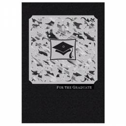 Hallmark Black and White Scrollwork Graduation Card