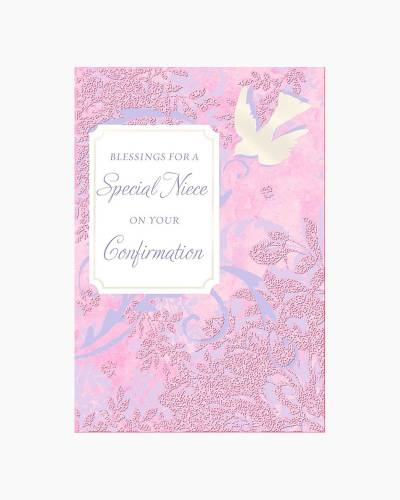 Blessings for a Special Niece Dove Confirmation Card