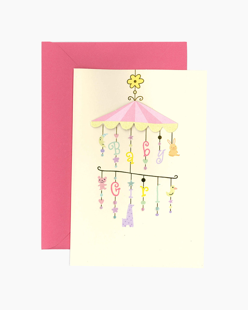 Hallmark Lucky you. Lucky her. New Baby Girl Card
