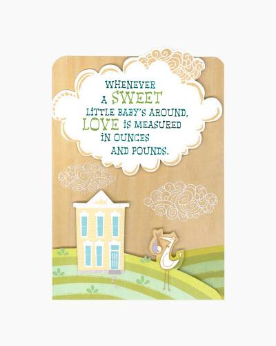 Stork Bundle of Wonder Baby Shower Card