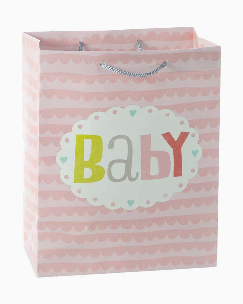 Hallmark Baby Pink Scallops Medium Gift Bag