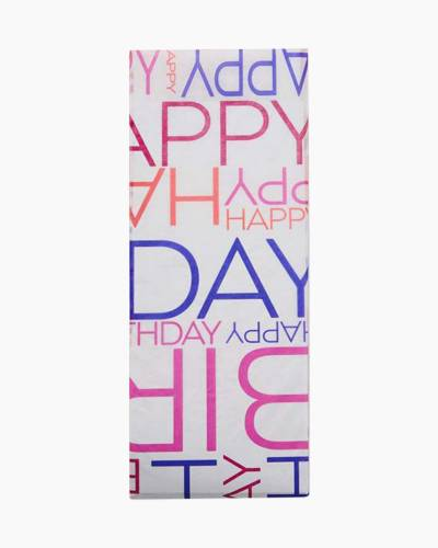 Multi-color Happy Birthday Tissue Paper