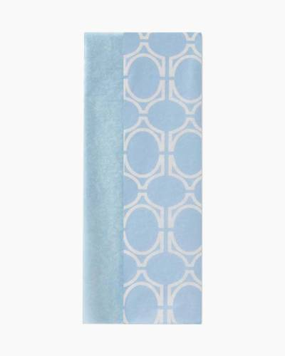Baby Blue Geometric Pattern Dual-Pack Tissue Paper