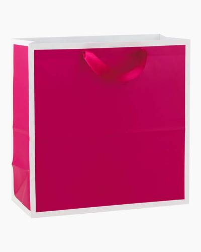 Raspberry Large Square Gift Bag