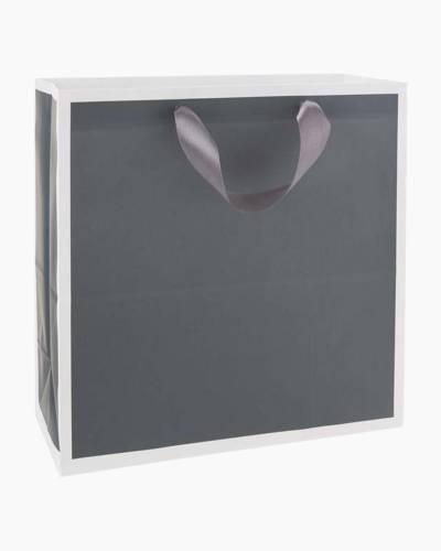 Steel Gray Large Square Gift Bag