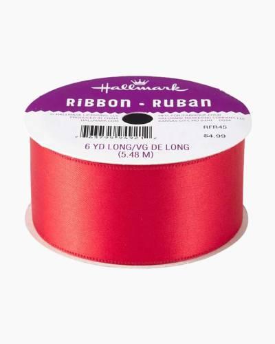 "Scarlet Red 1.5"" Satin Ribbon"