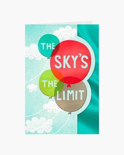 The Sky's the Limit College Graduation Card
