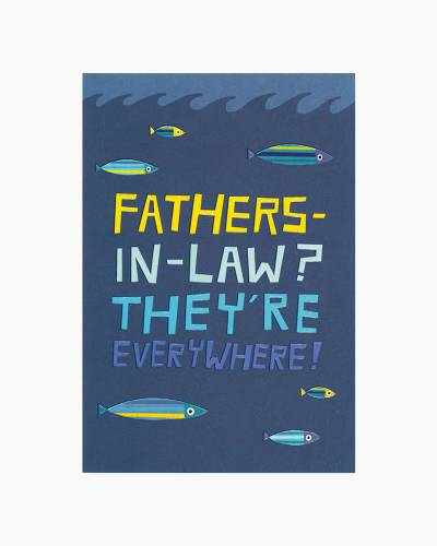 Rare Fish Father-in-Law Father's Day Card