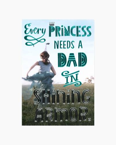 Dad in Shining Armor Father's Day Card