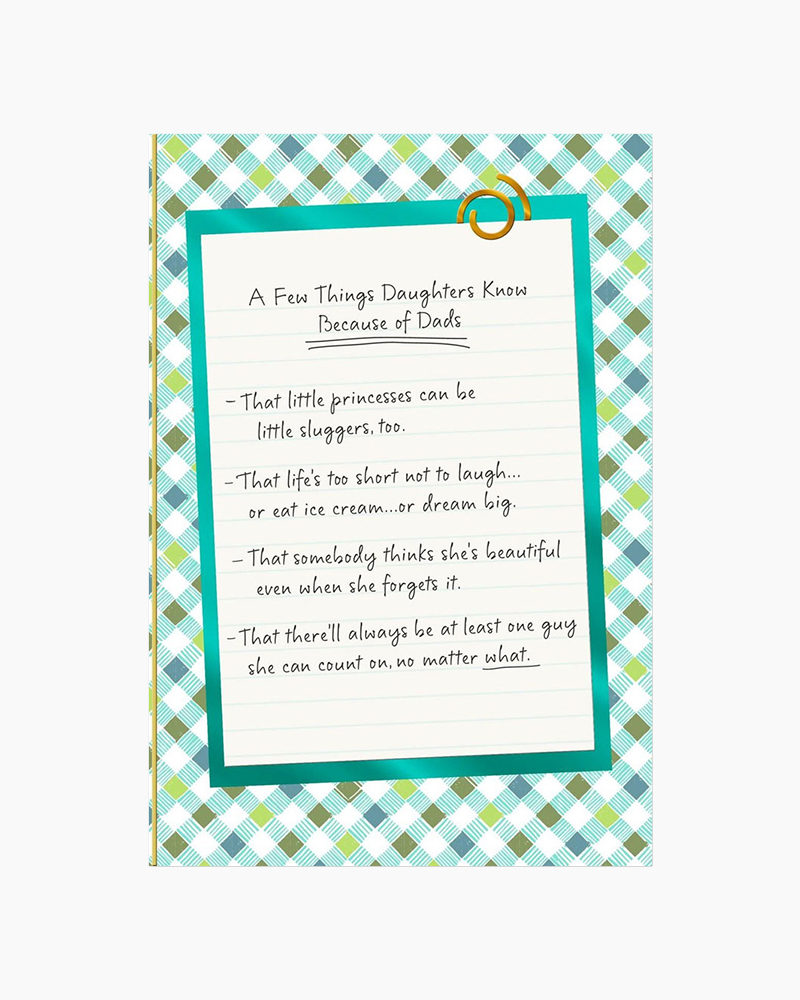 hallmark list of things dads teach daughters father s day card the