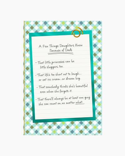 List of Things Dads Teach Daughters Father's Day Card