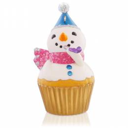 Hallmark New Year's Snowman Cupcake Keepsake Ornament: 6th in the Series