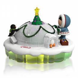 Hallmark The World of Frosty Friends Dome for the Holidays Frosty Igloo Mantelscape