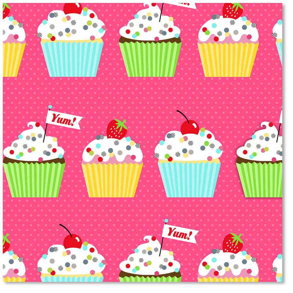 Hallmark Confetti and Cupcakes Wrapping Paper Roll