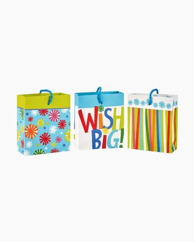Assorted Birthday Wish Gift Card Holder Mini Bags, Pack of 3