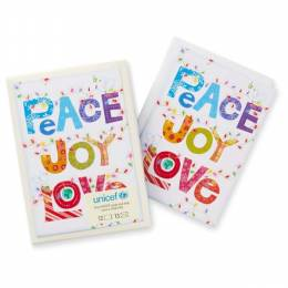 Hallmark Peace Joy Love Colorful Christmas Boxed Cards