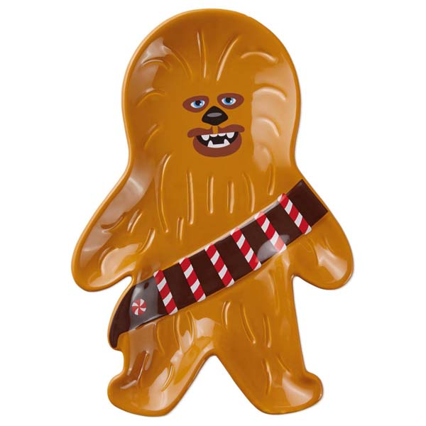 hallmark star wars chewbacca cookie plate the paper store - Chewbacca Christmas Ornament