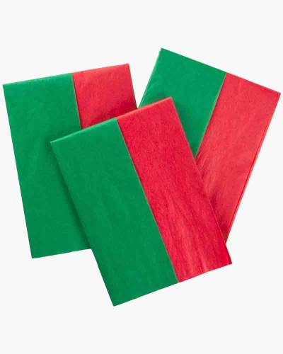 Red and Green 2-Pack Tissue Paper (30 Sheets)