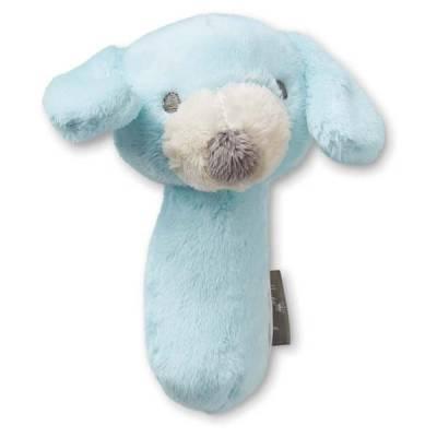 Blue Puppy Stuffed Rattle