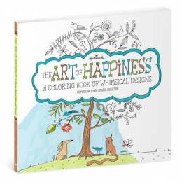 Hallmark The Art of Happiness Whimsical Designs Coloring Book for Adults