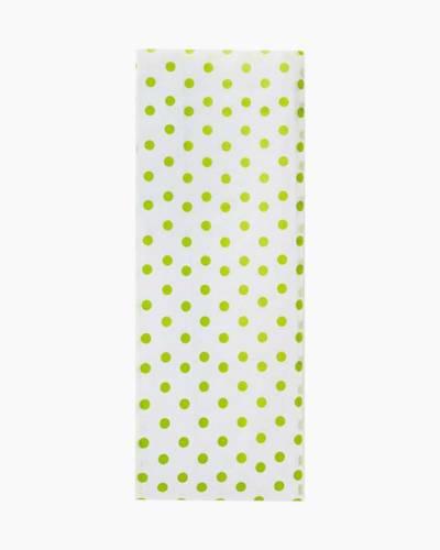 Chartreuse Polka Dot Tissue Paper