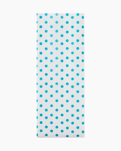 Turquoise Polka Dots Tissue Paper, 6 Sheets