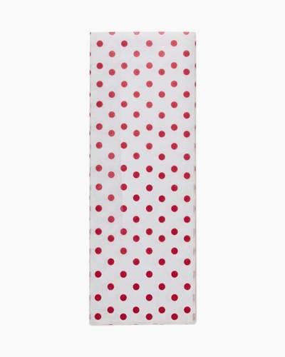 Scarlet Red Polka Dot Tissue Paper