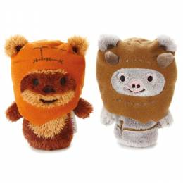 Hallmark itty bittys Ewok Buddies Set With Wicket and Chief Chirpa Stuffed Animals