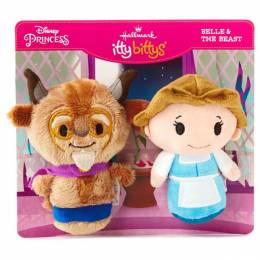 Hallmark itty bittys Beauty and the Beast 25th Anniversary Set With Belle and Beast Stuffed Animals