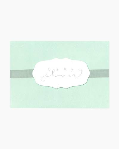 Embossed Baby Shower Card