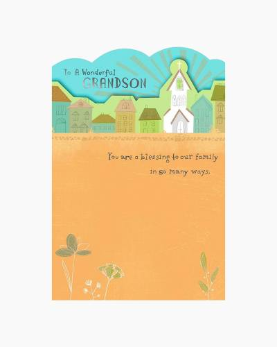 You Are a Blessing First Holy Communion Card for Grandson