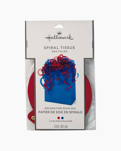 Red and Blue Spiral Tissue Bag Filler