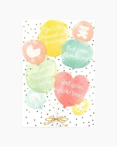 Balloons Baby Shower Card
