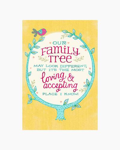 Our Different Family Tree Mother's Day Card