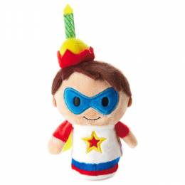 Hallmark itty bittys Birthday Boy Hero Stuffed Animal