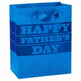 Hallmark Blue Happy Father's Day Medium-Sized Gift Bag