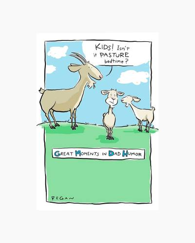 Goats Bad Joke Humor Father's Day Card
