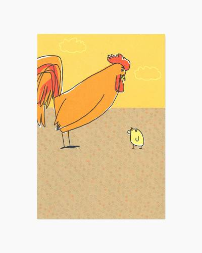 Cluckin Awesome Father's Day Card