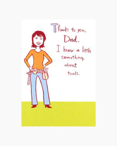 Daughter Tool Belt Father's Day Card
