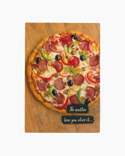 Pizza Slice Father's Day Card for Stepfather