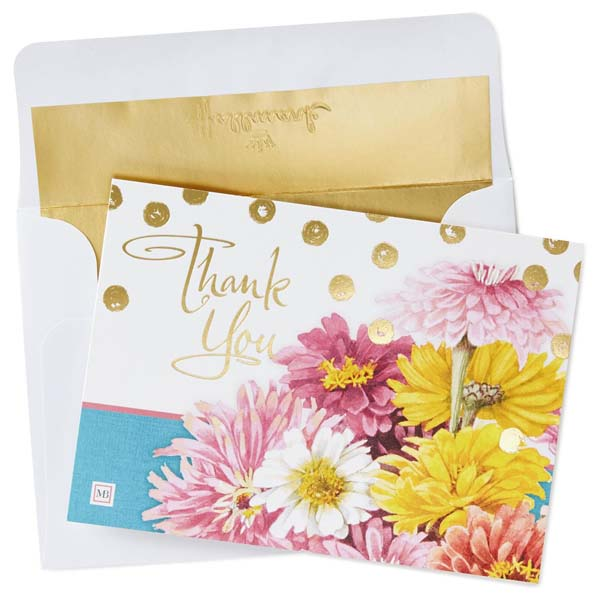 Hallmark Bright Blooms Thank You Notes by Marjolein Bastin