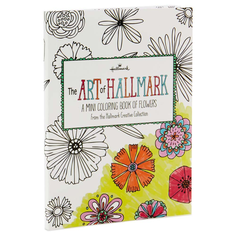 Hallmark The Art of Hallmark, A Mini Coloring Book of Flowers