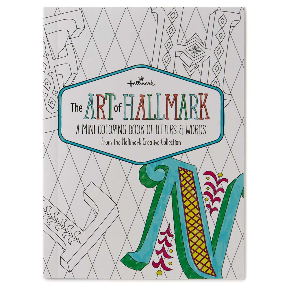 Hallmark The Art of Hallmark, A Mini Coloring Book of Letters & Words