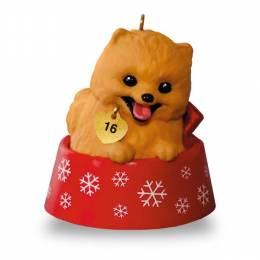 Hallmark Puppy Love Pomeranian Ornament