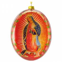 Hallmark Our Lady of Guadalupe Glass Ornament