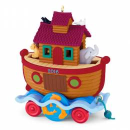 Hallmark Santa Certified Ark Pull Toy Ornament