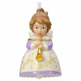 Hallmark Heavenly Belles Angel Porcelain Bell Ornament
