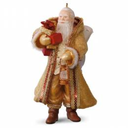 Hallmark Gold and Amber Father Christmas Ornament