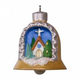 Hallmark A World Within Church Scene Mini Ornament