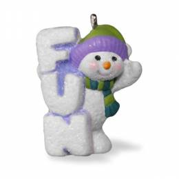 Hallmark A Little Frosty Fun Mini Snowman Ornament